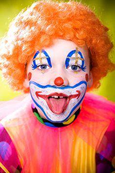 Clown Face Makeup Ideas | little girl dressed up as a clown