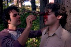 Peter Jackson's early films involved numerous handmade blood effects, usually applied by the director himself.