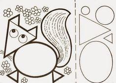 ESPAÇO EDUCAR: Atividades para Educação Infantil: trabalhando formas geométricas de modo divertido, montando animais!