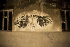 Vhils, Porto - Reverse Graffiti - made by cleaning away existing dirt and grime from the wall - unurth Cleaning Master, Reverse Graffiti, Street Wall Art, Street Artists, Male Face, Public Art, Art Forms, Contemporary Art, The Incredibles