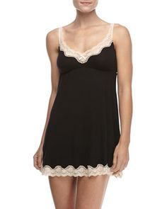 Lady Godiva Lace-Trimmed Chemise by Eberjey at Neiman Marcus.