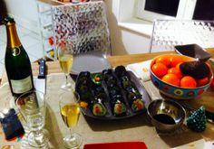 Makis saumon-concombre-avocat fait maison
