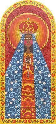 Nossa Senhora Aparecida - mosaico de tinta - Andréa Horn