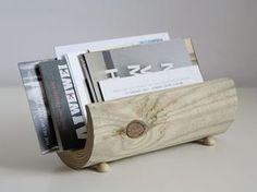 Tutorial fai da te: Realizzare un portariviste minimal da un tronco di legno via DaWanda.com