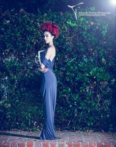 Image title: Enchanted Desire Photographer: Tara West Designer: Kevan Hall Location: Chateau Del Mar, Palos Verdes Estates, Los Angeles, California 2012 Model: Dulce Ruby Editorial Photography, Editorial Fashion, California, Garden, Sticks, Palo Verde, Sweet, Lawn And Garden, Reportage Photography