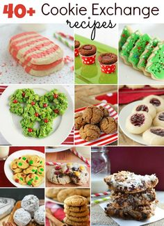 40+ amazing cookie recipes - perfect for a cookie exchange! www.thebakerupstairs.com