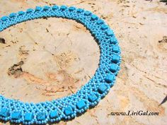 Pattern for necklace Turquoise Squares