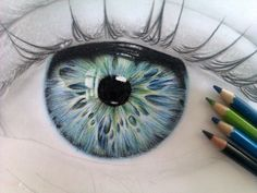 36 Ideas Drawing Realistic Sketches Colored Pencils For 2019 Drawing Eyes, Painting & Drawing, Colour Drawing, Eyeball Drawing, Body Painting, Cool Drawings, Drawing Sketches, Eye Sketch, Sketching