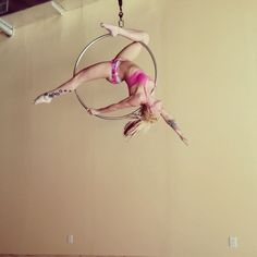 Just taking a break from cleaning and getting a quick spin in on the hoop. Gotta recondition for hardcore spinning. I've been out of…