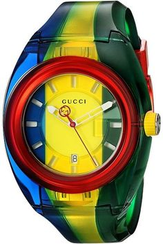 4e2a25b8947 Gucci G-Timeless Mother of Pearl Dial Leather Strap Ladies Watch ...