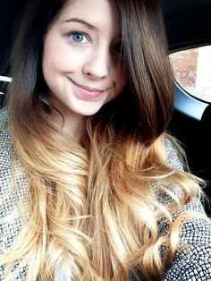 Ombre – All About Hairstyles Zoella Makeup, Zoella Hair, Zoella Beauty, Hair Makeup, Hair Beauty, Zoe Sugg, Let Your Hair Down, Girl Online, About Hair