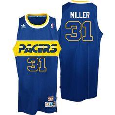 c429ea677 Adidas Indiana Pacers Swingman Blue Reggie Miller Rookie Throwback Jersey -  Men s