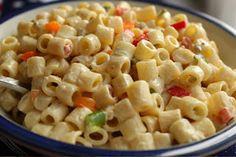 macaroni salad everything salad their macaroni is the best for me. Easy Macaroni Salad, Classic Macaroni Salad, Macaroni And Cheese, Bbq Salads, Summer Salads, Plate Lunch, Savarin, Food Club, Kitchens