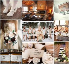 winter wedding inspiration board I love the shoes!