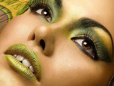 green art makeup