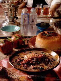 Persian recipes by Najmieh Batmanglij in the Vegetarian Times June 2003 issue