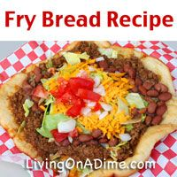 Our family's favorite! Looking for an easy and inexpensive fry bread recipe? You can make these traditional or quick fry bread by rolling out Grands biscuits. Click here to get this yummy #recipe from Dining On A Dime Cookbook  http://www.livingonadime.com/navajo-fry-bread/