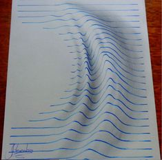 you are under the influence of art! Artist Joao Carvalho, aka J. Desenhos, creates optical illusions that will have you believing the drawings are popping out of the page. By drawing in distorted blue lines in his blank notebook, […] Notebook Art, Notebook Drawing, Notebook Paper, Notebook Doodles, Lined Notebook, Illusion Kunst, Illusion Art, 3d Optical Illusions, Creators Project