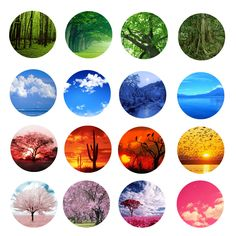 The Colors of Nature Free Bottle Cap Images by Folie du Jour