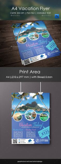 Travel Vacation Flyer Flyer Template Template And Print Templates