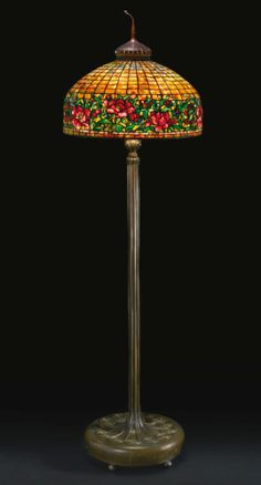 """Tiffany Studios   Lot   Sotheby's; """"Peony Border"""", was estimated at $200,000; sold for $221,000."""