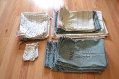 DIY cloth reusable produce and bulk bags for a zero waste kitchen