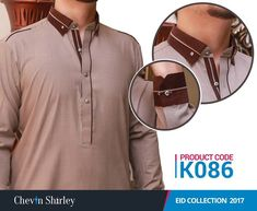 Chevin Shirley Men Eid Shalwar Kameez are the classic style of cotton shalwar kameez dresses for boys that are launched for this Eid Ul Fitr and festive season. Pakistani Mens Kurta, Mens Sherwani, Gents Kurta Design, Boys Kurta Design, Man Dress Design, Mens Shalwar Kameez, Kurta Pajama Men, Shirt Collar Styles, Best Casual Dresses