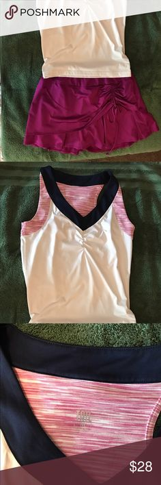 Tail brand tennis top and skort Pink, white, and Navy tennis outfit Tail Other