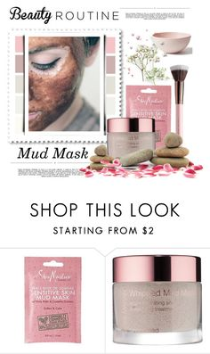 """Beauty Routine. .... Mud Mask"" by conch-lady ❤ liked on Polyvore featuring beauty, SheaMoisture, Whiteley, Josie Maran, Mud Australia and facemasks"