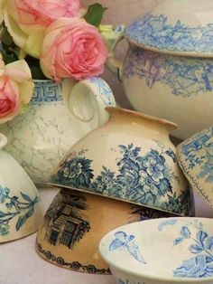 Vintage French Latte Cups