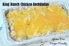 King Ranch Chicken Enchiladas ~ gluten free and freezer friendly! | 5DollarDinners.com