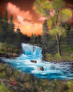 Forget the bad weather seek out the spectrum. The sole technique to go to the spectrum will be to look at the rainwater. Waterfall Paintings, Scenery Paintings, Nature Paintings, Beautiful Paintings, Landscape Drawings, Cool Landscapes, Beautiful Landscapes, Fantasy Landscape, Landscape Art