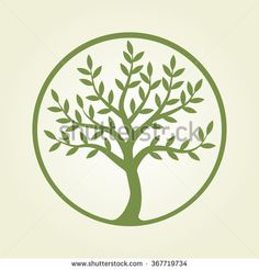 Logo Tree, Green Circle. Plant, Nature, Ecology. Growing Business ...