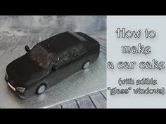 "How to make a car cake with ""glass"" windows / Jak zrobić tort samochód z. Police Car Cakes, Race Car Cakes, Car Cake Tutorial, Fondant Tutorial, Car Shaped Cake, Corvette Cake, Mustang Cake, Cars Theme Cake, Ferrari Cake"