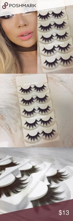 10 Pairs DOLLY EYELASHES House LASHES koko kylie Similar to House of Lashes Iconic Full Eyelashes  ❤️ PRICE IS FIRM  ❤️ OFFERS WILL BE IGNORED ❤️ FREE SHIPPING Including Tracking   • 10 Pair Of Lashes  • Black Band • Synthetic Silk Fibers • New In Box • Will Last Up To 7 Applications, With Good Care  No Glue  Orders placed after 3PM (EST) time will be shipped out the next day! Exception on Sundays. Check my other listing for 5 pair eyelashes Makeup False Eyelashes