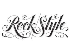 We Love Typography: rock style by jessica hische Tattoo Font For Men, Tattoo Lettering Styles, Tattoo Fonts, Lettering Design, Tattoo Quotes, Lettering Ideas, Good Enough, Feather Quotes, Feather Tattoos