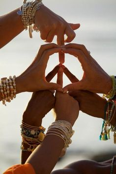 Bileklikler peace, hippie boho style