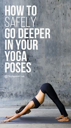 How to Safely Go Deeper in Your Yoga Poses Every body is different and so are our strengths and flexibility levels. So how do we go deeper into our yoga poses safely? Kundalini Yoga, Ashtanga Yoga, Vinyasa Yoga, Yin Yoga, Yoga Meditation, Yoga Inspiration, Style Inspiration, Yoga Fitness, Fitness Motivation