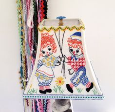 Child Lamp Shade Raggedy Ann and Andy Lampshade by lampshadelady