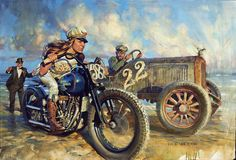Official Website of Fine Artist David Uhl. Collections include motorcycle art, aviation art, automotive art, pin-up art. Harley Davidson Kunst, Harley Davidson Motorcycles, Motorcycle Art, Bike Art, Custom Choppers, Aviation Art, Vintage Racing, Monster Trucks, Artwork