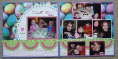 Easter egg coloring scrapbook page