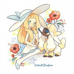 Lilly is the usual pokemon side girl. Hates battling and reads alot