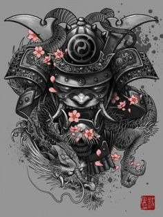 """Dragon Samurai"" Artwork by Elvintattoo 
