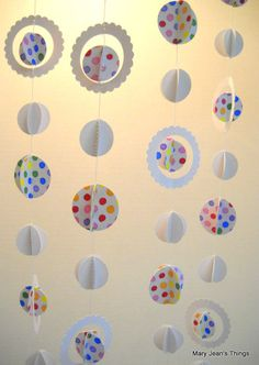 Paper Christmas Garland by MaryJeansThings, $10.00