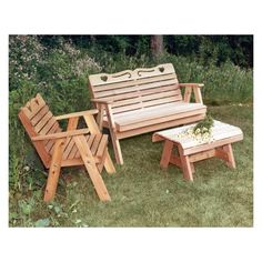 Creekvine Designs Cedar Country Hearts Conversation Set - $1079 @hayneedle