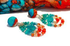 Orecchini con pendenti in pietre dure di Barbara Del Rio su DaWanda.com