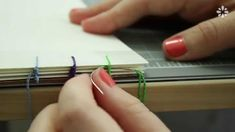 How to Bind Single Sheets : Bookbinding Tutorial by sealemon on youtube. This method requires separate pieces of binding thread and needles for each station.