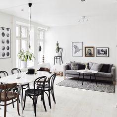 11 Monochrome Living Room Design Tips Scandinavian Interior Design, Scandinavian Home, Decor Interior Design, Interior Decorating, Decorating Ideas, Modern White Living Room, Cute Living Room, Home And Living, Nordic Living