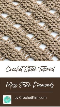 Newest Images Crocheting Stitches diamond Thoughts Moss Stitch Diamond Lace Free Crochet Stitch Tutorial Crochet Shawl Free, Crochet Stitches Patterns, Tunisian Crochet, Stitch Patterns, Knitting Patterns, Free Knitting, Different Crochet Stitches, Quick Crochet, Sock Knitting