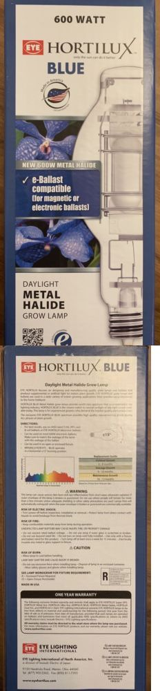 The exclusive HORTILUX BLUE spectrum provides high quality, natural-looking plants during ALL phases of plant growth. Grow Light Bulbs, Grow Lights, Grow Lamps, Plant Growth, Blue, Ebay